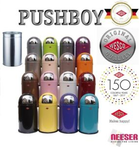 WESCO PUSHBOY 50 L KULT Mülleimer Abfalleimer poubelle bin ✅ WESCO-LADEN  STUTTG