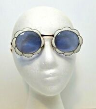 Sunglasses Christian Dior White Enamel GF Frame Gold Filled Vintage Authentic
