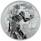 2020 1 Oz Silver $1 Tuvalu ZEUS Gods Of Olympus Coin.
