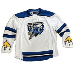 Vintage Springfield Falcons Jersey Boy's L/XL AHL Hockey White Child Girls CCM