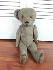 """ANTIQUE LIKELY STEIFF JOINTED EARLY 1900'S  TEDDY BEAR STRAW FILLED 20"""" INCH OLD"""