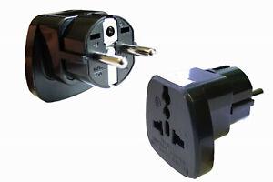 2x Adapter/Stecker Italien Afrika Indien Schweiz Anschluss in Deutschland Typ X