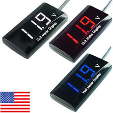 Mini LED Digital Voltmeter Panel 8-16V Voltage Volt Meter Gauge F Car Motorcycle