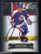 Thomas Steen signed autographed Auto 2006-07 Parkhurst card #123 Jets
