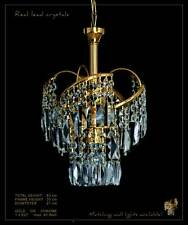 Small fine crystal chandelier with real crystals. In silver or gold available.