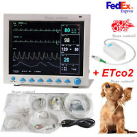 Veterinary CO2 Patient Monitor VET Vital Signs ETCO2+NIBP SPO2 RESP TEMP RESP PR