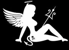 Angel Devil Girl Vinyl Decal Sticker Car Truck Window