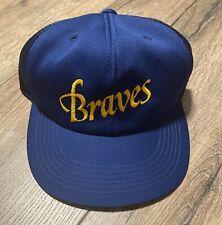 Vintage 1989-1990 Orix Braves Blue Wave Baseball Strap Back Hat Cap Japan NPB