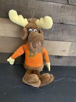 "Bullwinkle Plush Wallace Berrie 1982 Orange Shirt Stuffed Animal Vintage 12"""