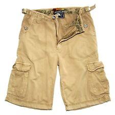 Mens SoulCal & Co  Combat Cargo Cinch  Shorts  Beige  Size  W30  Inseam  12in