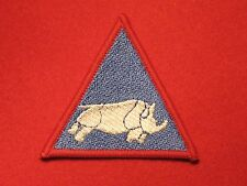 BRITISH ARMY 1 UK ARMOURED DIVISION BLUE TRF RHINO FORMATION BADGE