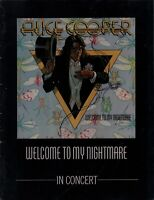 ALICE COOPER 1975 WELCOME TO MY NIGHTMARE TOUR CONCERT PROGRAM BOOK / EX 2 NMT