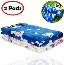iNNEXT 2 Pack Puppy Blanket for Pet Cushion Small Dog Cat Bed Soft Warm Sleep...