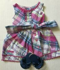 American Girl Plaid Party Dress - Doll Clothes with Original Box