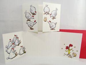 """lustige Falt-Postkarte """"Überraschungs-Ei"""" +Umschlag Huhn Ei Hühner Grußkarte"""