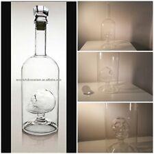 Skull in Glass Bottle Liquor Modern Whiskey Decanter Alcohol Vodka Bourbon Rum