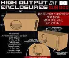 "Custom Subwoofer Box Blueprint Skar Audio MA-8 VVX IX VD Custom Port Sub Box 8"""