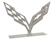 C7 Corvette Car Art Work  Brushed Metal Tabletop Sculpture