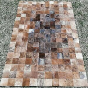 NEW COWHIDE PATCHWORK CARPET AREA RUG Cow hide PERFECT WOWW 4ft x 6ft