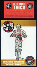 STAR WARS REPRO 2005 . 501ST LEGION DROID HUNT & JEDI MIND TRICK CARDS . NOT DVD
