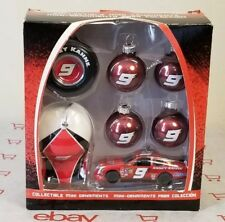KASEY KAHNE #9 Dodge Nascar Collectible Mini Christmas Ornaments 7 Pieces Boxed