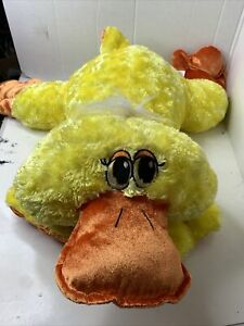 "Dan Dee Large Yellow Duck Floppy BIG Plush Laying Down Easter 24""-33"""