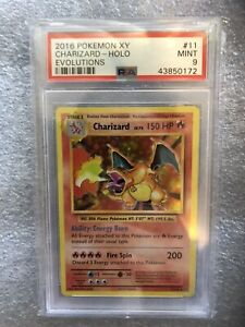 Pokemon XY Evolutions Charizard Holo #11 PSA 9