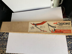 "Carl Goldberg ""Up-Thrust FAI Viking"" F/F Balsa Model Airplane Kit 65"" Wing Span"