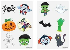 24 Halloween Tattoos Transfers Trick or Treat Party Bag Fillers FREE 1ST CLASS
