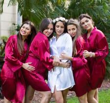 Albornoces de dama de honor fiesta nupcial personalizado de seda Robes Personalizado