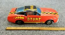 VINTAGE TIN LITHO BATTERY OPERATED STUNT TPS MUSTANG MACH 1 JAPAN WORKS!