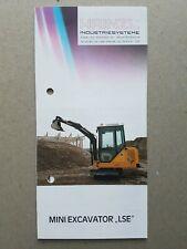 Hainzl Industries System Mini Excavators LSE 6 pg Leaflet Brochure 1990s??
