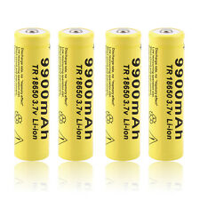 4 X 3.7V 18650 9900mah Li-ion Rechargeable Battery For LED Flashlight Torch QW