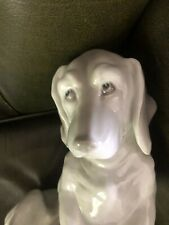 More details for gebruder heubach porcelain figure of a dachshund has makers impressed mark