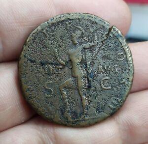 Sestertius of Hadrian, Virtus,  g25.87 mm34