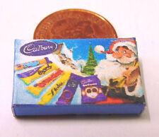 1:12 Scale Empty Cadbury Christmas Selection Box Dolls House Sweet Packet