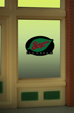 """BREYERS ICE CREAM NEON WINDOW SIGN -CAN BE TRIMMED AS SMALL AS .825"""" W x  0.9"""" T"""