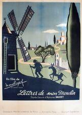 """""""LETTRES DE MON MOULIN"""" Affiche entoilée  Litho  (Marcel PAGNOL / Henri VIBERT)"""