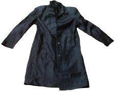 Marks & Spencer Fashion 93 Long Gothic Ladies Biker Leather Coat Jacket M 38