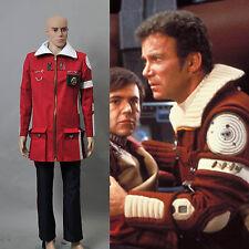 Star Trek II The Wrath of Khan Admiral Kirk Field Coat Pants Costume*Tailored*