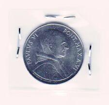 50 Lire 1968 - Pavlvs VI FAO, Vatican coin - Stainless Steel - RARRE !