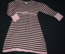 Girls Gymboree Giraffe Club Striped Sweater Dress Sz Size 4 Pink Brown Vintage