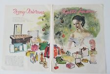 1946 Elizabeth Arden Merry Christmas dusting powder Cosmetics toilet water ad