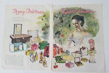 1946 Elizabeth Arden Merry Christmas dusting powder Cosmetics toilet water ad