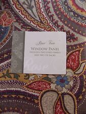 ROSE TREE CLEARMONT COLLECTION~2 LINED POLE TOP DRAPERY PANELS DRAPES~NEW~