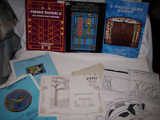 LOT OF GREAT STAINED GLASS PATTERN BOOKS & PATTERNS - ADVANCED PROJECTS; LOT #3