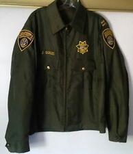 Eureka California  Department Of Corrections Jacket Windbreaker Large Police
