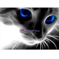 Full Drill 5D Diamond Embroidery Painting Blue Eyed Cat Cross Stitch Home Decor