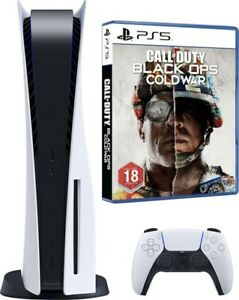 Sony Playstation 5 Disc Version with PS5 Wireless Controller and Call of Duty BO