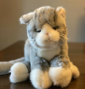 Socks 519802 Bearington  Kitties Collection Grey Stuffed Animal Plush Cat
